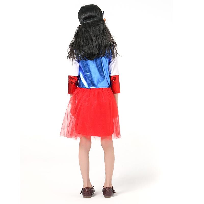 Captain America Costume Kids Superhero Dress