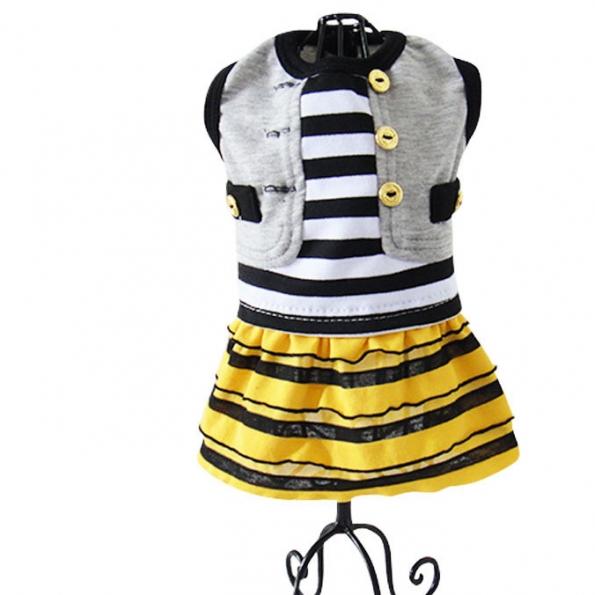 Pet Halloween Costumes Yellow Skirt