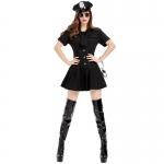 Black Police Woman Uniform Costume