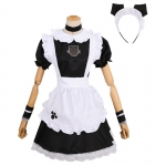 Maid Costumes Cat Open Chest Shape