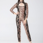 Halloween Costumes Leopard Cat One Piece Style