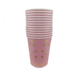 Birthdays Decoration Bronzing Pink Tableware Kit