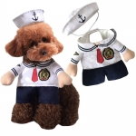 Pet Halloween Costumes Navy Suit