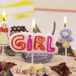 Birthdays Decoration Smokeless Baby Bottle Candles