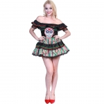 Adults Halloween Costumes Day Of The Dead Skull Suit
