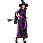 Witch Costumes Purple Star And Moon Dress