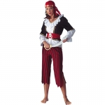 Pirates of the Caribbean Costumes Striped Women Clothes