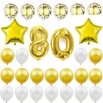 Birthday Balloons Gold Party Decoration