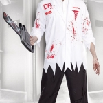 Scary Halloween Costumes Bloody Doctor Suit