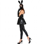 Playboy Bunny Outfits Leather Masked Dress