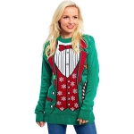 Christmas Sweater Suit Pattern Couples