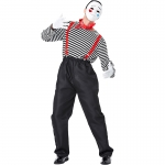 Funny Mime Actor Chaplin Style Costume