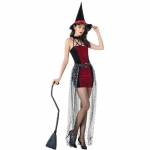 Sexy Halloween Costumes Witch With Hat Dress