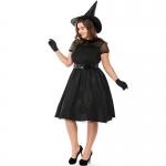 Plus Size Black Gauze Witch Costume