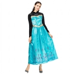 Women Halloween Costumes Ice And Snow Princess Isa Anna Sequined Dress