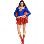 Women Halloween Superman Costumes American Comics Same Style