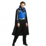 Vampire Costume for Man Blue Style