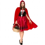 Women Halloween Little Red Riding Hood Costumes Plus Size Fat Man Style
