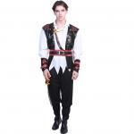 Men Halloween Costumes Pirate Vest Performance Suit