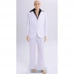 Men Halloween Costumes Retro Disco White Style