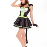 Halloween Costumes Green Cat Dress