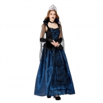 Halloween Costumes Vampire Blue Enchantress Queen Court Dress