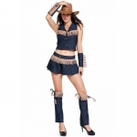 Sexy Halloween Costumes Western Jeans Skirt