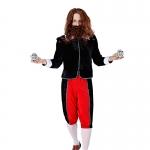 Men Halloween Costumes Black Red Vampire Death Exorcist Crazy Clothes