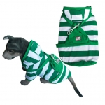 Pet Halloween Costumes Striped Backpack Suit