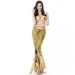 Women Halloween Costumes Mermaid Evening Dress Sequins Style
