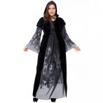 Plus Size Skull Print Witch Vampire Costume