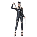 Halloween Costumes Masked Cat One Piece Suit With Tail