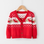 Christmas Sweater Elk Knit Cardigan