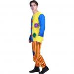 Men Halloween Costumes Patch Clown Suit