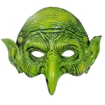 Halloween Props Green Witch Mask