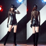 Halloween Costumes Masked Cat Lace Splicing Dress