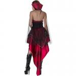 Women Halloween Scary Bat Costumes Dark Red Dress