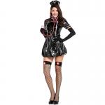 Adult Halloween Costumes Black Slim Nurse Uniform