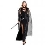 Halloween Vampire Costumes Black Ghost Witch Dress