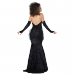 Witch Halloween Costumes Spider Black And Red Vampire Dress