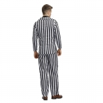 Men Halloween Costumes Clown Soul Black And White Stripes Clothes