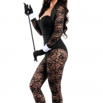Sexy Halloween Costumes Bunny Lace Jumpsuit