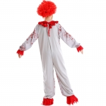 Red Bloodstained Clown Kids Costume