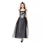 Halloween Costumes Vampire Zombie Black Wedding Dress
