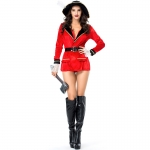 Halloween Costumes Pirate Captain The Big Red Sailor Suit