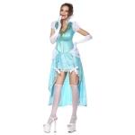 Women Halloween Costumes Blue Luxury Sissi Dress