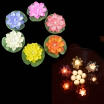 Halloween Decorations Electronic Lotus  Candle