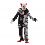 Adults Halloween Costumes Ugly Clown Jumpsuit