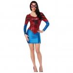 Women Halloween Costumes Spiderman Superwoman Dress