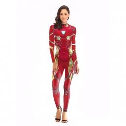 Women Halloween Costumes Iron Man Nano Printing Suit